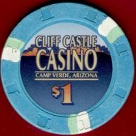 $1 Casino Chip. Cliff Castle, Camp Verde, AZ. K96. - Casino