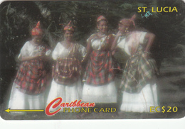 St Lucia GPT Phonecard  (Fine Used) Code 96CSLA - St. Vincent & The Grenadines