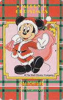 Télécarte Japon / 110-150525 - DISNEY - MICKEY En Père Noël - Dai Ichi Life - CHRISTMAS Japan Phonecard Assu - Disney
