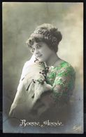 Jeune Femme Avec Fourrure - Circulé - Circulated - Gelaufen - 1913. - Femmes