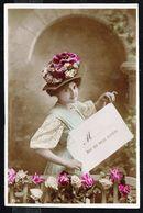 Jeune Femme Avec Fleurs - Circulé - Circulated - Gelaufen - 1908. - Femmes