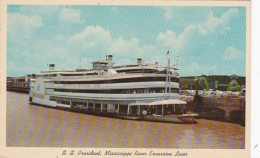 Louisiana New Orleans S S President Mississippi River Excursion Liner - New Orleans