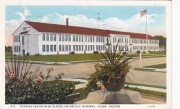 Oregon Salem Parrish Junior High School 1945 Curteich - Salem