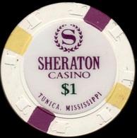 $1 Casino Chip. Sheraton, Tunica, MS. K97. - Casino