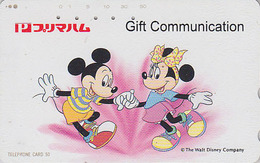 Télécarte Japon / 110-813 - DISNEY - Danse De MICKEY & MINNIE - Japan Phonecard Telefonkarte - MD 4019 - Disney