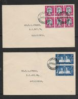 S.Africa, Royal Visit, 2 Covers, 6 X 1d,  & 2 X 3d, MARAISBURG TRANSVAAL 17 FEB 47  C.d.s.  (First Day Of Issue) - South Africa (...-1961)