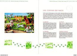 """2011 """" LES CHIENS DE RACE : CANICHE YORKSHIRE LABRADOR BERGER ..."""" Sur Doc Officiel 1°Jour De 4 Pages. N° YT F4545. DPO - Chiens"""