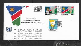 Namibia Independence Day, Card & Envelope, WINDHOEK 21 MARCH 1990 - Namibia (1990- ...)