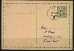 CSR-GSK 50 H. Mit Stpl. FELDPOST C ?20 10.10.38, Kte Nachträglich Beschriftet - Occupation 1938-45