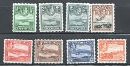 ANTIGUA   George VI * Definitives  SG 98-103, 105, 101a  UM - MNH - Antigua & Barbuda (...-1981)