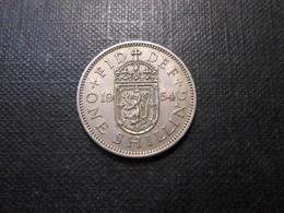 Grossbritannien  One Shilling  Elizabeth Ll  Silber  1954  Lll Vz - 1902-1971 : Post-Victorian Coins