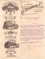 Beau Document Du 29/10/1904 TEYSSONNEAU Fruits Légumes Viandes  - Bordeaux 33 - Francia