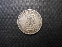 Grossbritannien  One Shilling  Georg V  Silber  1932  LV Ss - 1902-1971 : Post-Victorian Coins