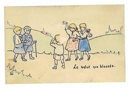 CPA HENRIETTE DELALAIN LE SALUT AUX BLESSES - Autres Illustrateurs