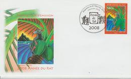 Polynésie Française 2008 Année Du Rat 828 - FDC