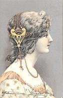 [DC11578] CPA - STUPENDA CARTOLINA ILLUSTRATA - DONNA DI PROFILO - PERFETTA - Viaggiata 1903 - Old Postcard - Illustratori & Fotografie