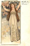 [DC11595] CPA - STUPENDA CARTOLINA ILLUSTRATA - ART NOUVEAU - DONNA - PERFETTA - N° 4092 - Viaggiata 1903 - Old Postcard - Illustratori & Fotografie
