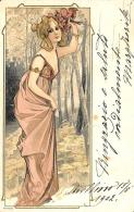 [DC11597] CPA - STUPENDA CARTOLINA ILLUSTRATA - ART NOUVEAU - DONNA - PERFETTA - N° 4089 - Viaggiata - Old Postcard - Illustratori & Fotografie