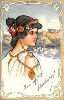 [DC11606] CPA - STUPENDA CARTOLINA ILLUSTRATA LIBERTY - DONNA - PERFETTA - Viaggiata 1900 - Old Postcard - Illustratori & Fotografie
