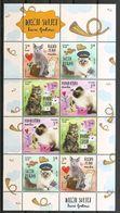 CROATIA 2018,FAUNA,CHILDREN S WORLD,PETS,CAT,CATS,SHEET,,MNH - Chats Domestiques