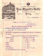 Beau Document Du 07/02/1911 JOS. OPPELT'S  NEFFE Prag (Prague) République Tchèque - Invoices & Commercial Documents