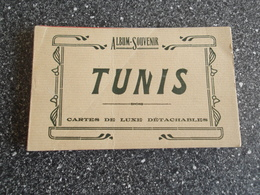 LOT Van 14 Oude Postkaarten: TUNIS - La Gare - Train - Tram - Postcards