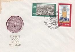 D FDC 2086-87  975 - 1975 1000 Jahre Weimar, Berlin 1085 - [6] Democratic Republic