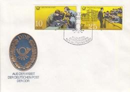 D FDC 2584 + 87  Aus Der Arbeit Der Deutschen Post Der DDR, Berlin 1085 - [6] Democratic Republic