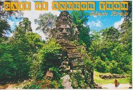 Postcard Cambodia Angkor Wat Temple Angkor Thom Gate - Kambodscha