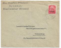 H7 - BISCHWEILER Kr HAGENAU - 1940 - Entête HOPFEN PFLANZER SYNDIKAT - - Alsace-Lorraine