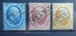 NEDERLAND   1864   Nr. 4 - 5 En 6      Gestempeld   Franco      CW  150,00 - Period 1852-1890 (Willem III)