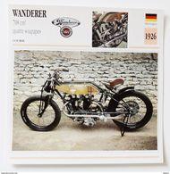 Fiche Technique MOTO Allemagne 1926 Wanderer  708 Cm3 Quatre Soupapes - Motos