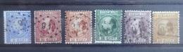 NEDERLAND   1867   Nr.  7 - 12     Gestempeld  CW  403,00 - Period 1852-1890 (Willem III)