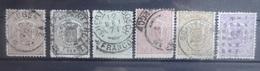 NEDERLAND   1869   Nr.  13 - 18      Gestempeld   CW  310,00 - Period 1852-1890 (Willem III)