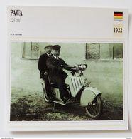 Fiche Technique MOTO Allemagne 1922 Pawa 226 Cm3 - Motos