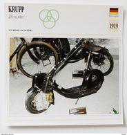 Fiche Technique MOTO Allemagne 1919 Krupp 200 Scooter - Motos