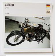 Fiche Technique MOTO Allemagne 1903 Allright 320 Cm3 - Motos