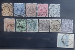NEDERLAND   1891   Nr.  34 - 44         Gestempeld   CW  175,00 - Used Stamps