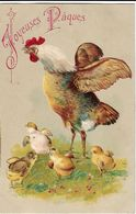 CPA FANTAISIE JOYEUSES PAQUES / POULE ET POUSSINS - Easter