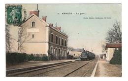 72 SARTHE - ARNAGE La Gare, Aquarellée - France