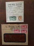 JEUX OLYMPIQUES 1924 - Lettre De Nancy Et Bordereau Pour Journaux YT 184 183 - France