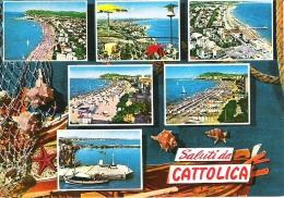 SCENES FROM CATTOLICA, RIMINI, ITALY. Circa 1985 USED POSTCARD Kw5 - Rimini