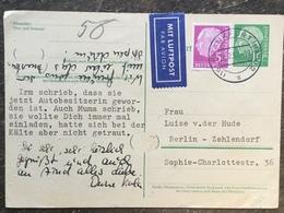 K4 BRD Germany Allemagne Ganzsache Stationery Entier Postal P 31 Von Frankfurt/Main Nach Berlin Luftpost - BRD