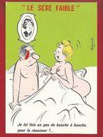 HUMOUR GRIVOIS  - ILLUSTRATEUR: ALEXANDRE - SEXE FAIBLE -  RÉANIMATION...AU BOUCHE À BOUCHE... - Humour