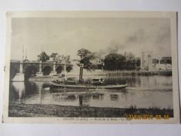 """Cpa BEZONS (95)  Bord De La Seine -le Pont """"animé Bateau Vapeur"""" - Bezons"""