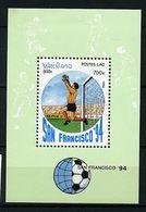 """Laos ** Bloc N° 120 -""""Sans Francisco 94"""" Coupe Du Monde De Foot Aux Etats Unis  - - Laos"""