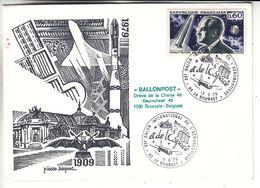 Espace - Fusée - France - Lettre De 1979 - Oblit Le Bourget Salon International De L'aéronautique - Vol Par Ballon - France
