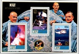 SPACE-MANNED FLIGHT-10th ANNIVERSARY-SET OF 3 WITH MS-NIUE-MNH-M2-33 - Space
