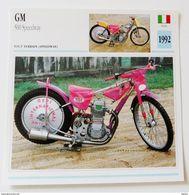 Fiche Technique MOTO Italie 1992 GM 500 Speedway - Motos