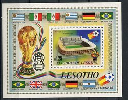 "Lesotho ** Bloc N° 14  - ""Espana 82"" Coupe Du Monde De Foot. Stade - - Laos"